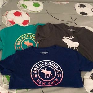 Set of 3 Boys Abercrombie T-shirt's